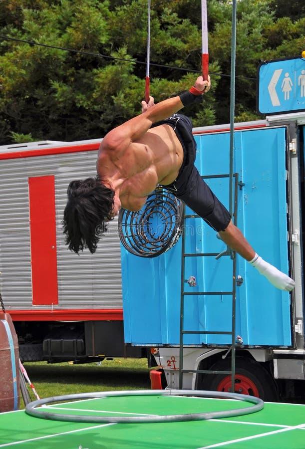 Совершитель цирка взрывателя воздушный, празднество Buskers мира, новое Zealan стоковая фотография rf
