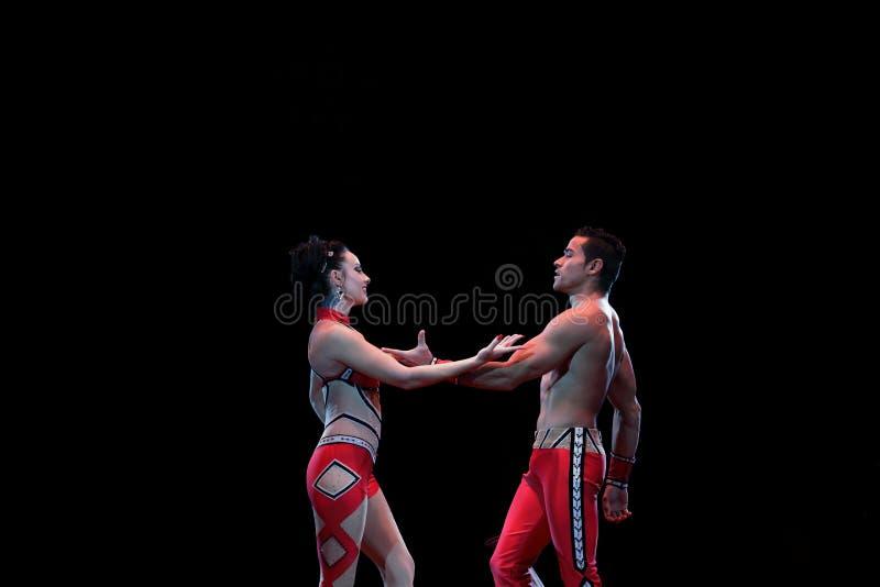 Совершители цирка стоковое изображение