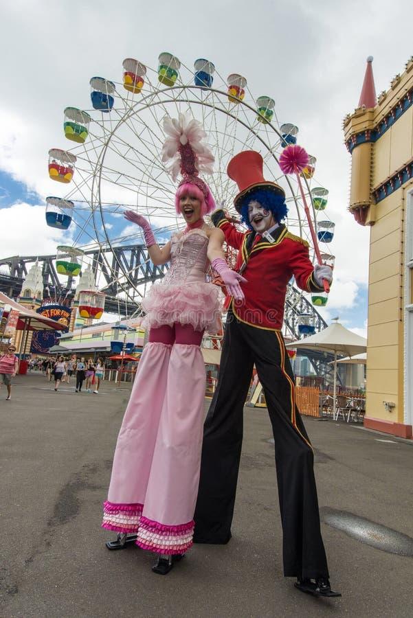 Совершители Luna Park стоковая фотография