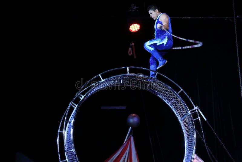Совершитель цирка стоковое фото