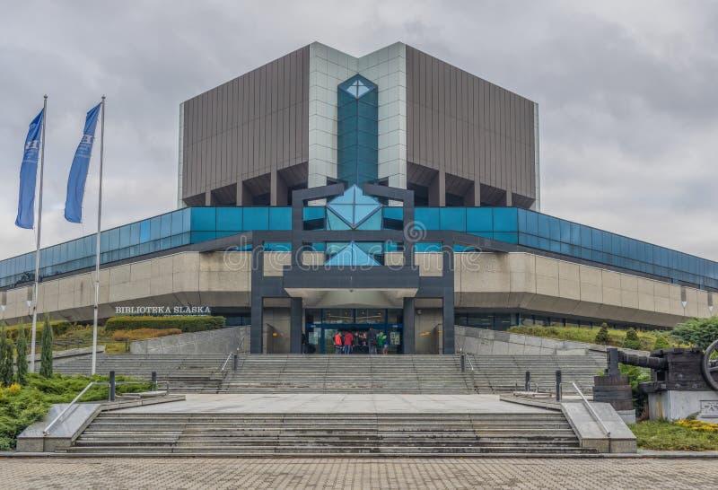 Советская архитектура Катовице, Польши стоковое фото rf