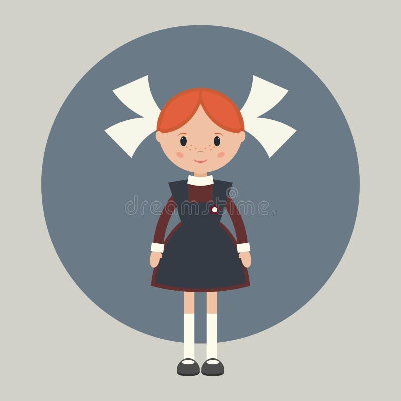 Советская школьница бесплатная иллюстрация