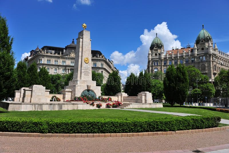 Советский военный мемориал в Будапеште стоковое изображение rf
