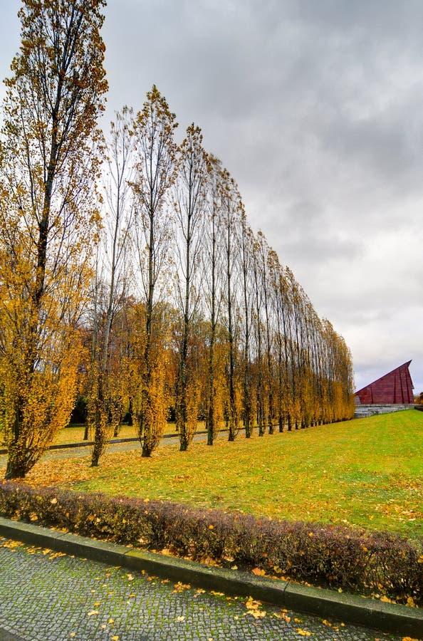Советский военный мемориал в парке Treptower, панораме Берлина, Германии стоковое фото rf