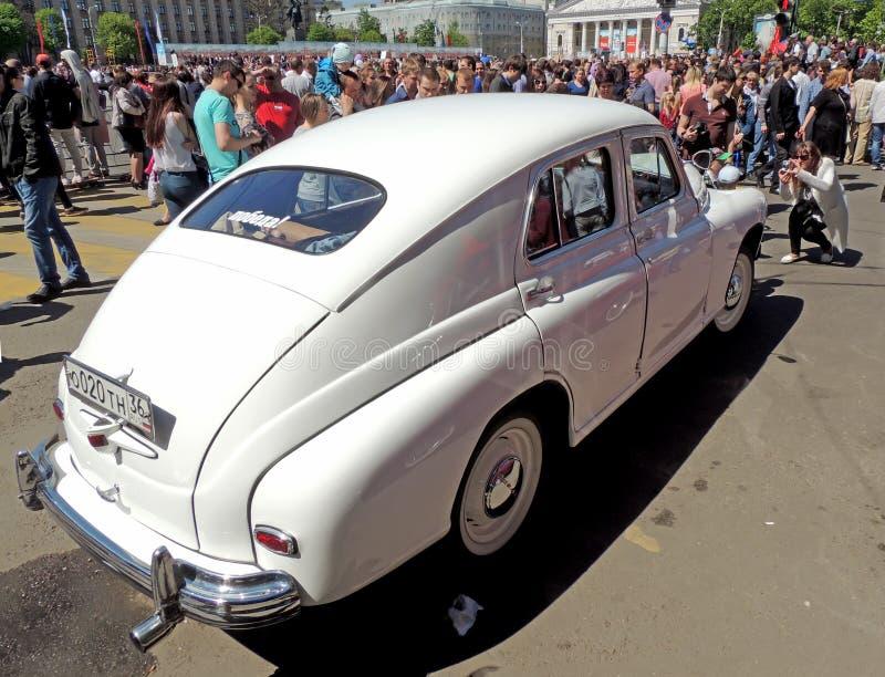 Советский исполнительный fastback GAZ-M20 Pobeda седана автомобиля (победа) стоковые изображения