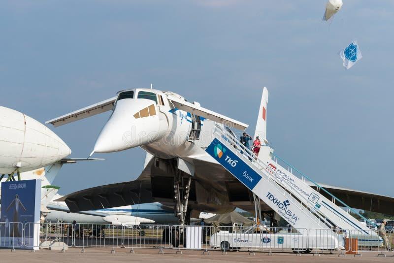 Советский пассажирский самолет Туполева TU144 зазвуковой стоковые фото
