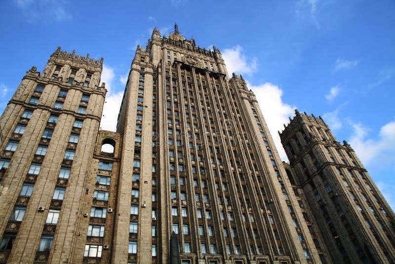 Совет stalin небоскреба стоковые фотографии rf