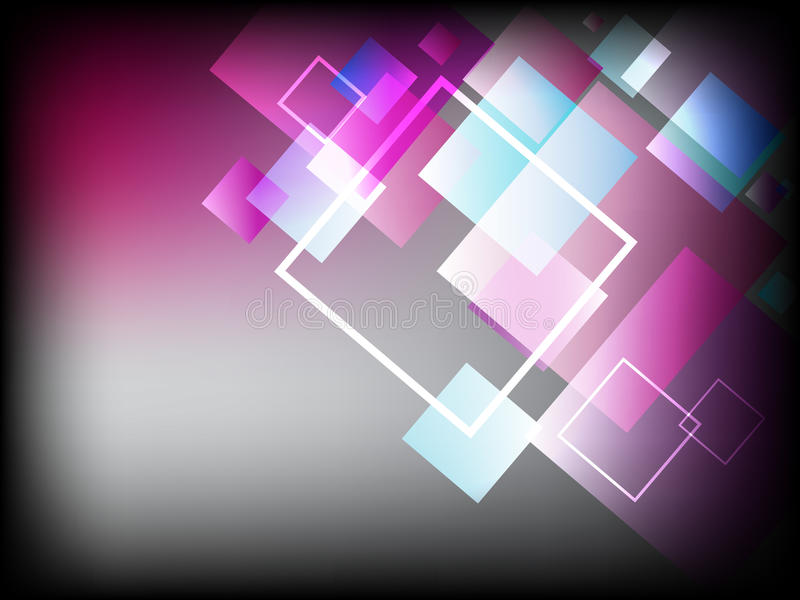 Современная абстрактная предпосылка с красивыми изумительными цветами и квадратами иллюстрация штока