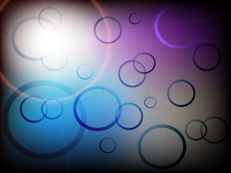 Современная абстрактная предпосылка с красочными кругами с градиентом иллюстрация вектора
