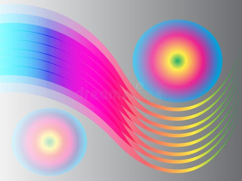 Современная абстрактная предпосылка с красочными точками с градиентом иллюстрация вектора