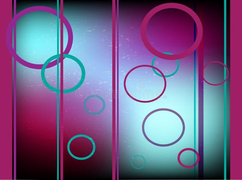 Современная абстрактная предпосылка с кругами и линиями иллюстрация вектора