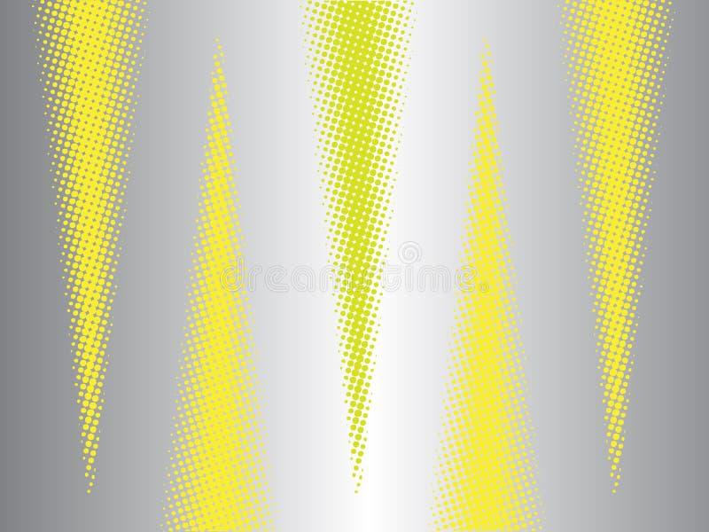 Современная абстрактная предпосылка с треугольниками влияния полутонового изображения иллюстрация штока