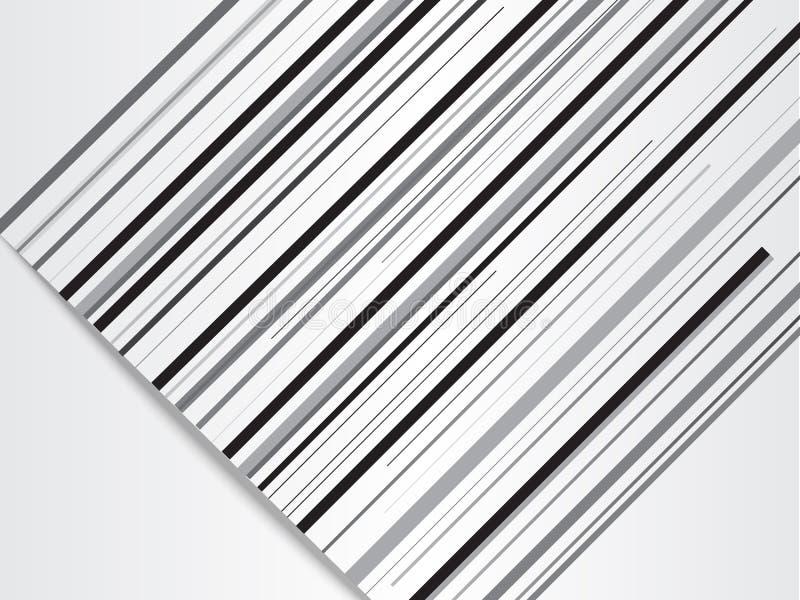 Современная абстрактная предпосылка с черными линиями с бумагой отрезала влияние иллюстрация вектора