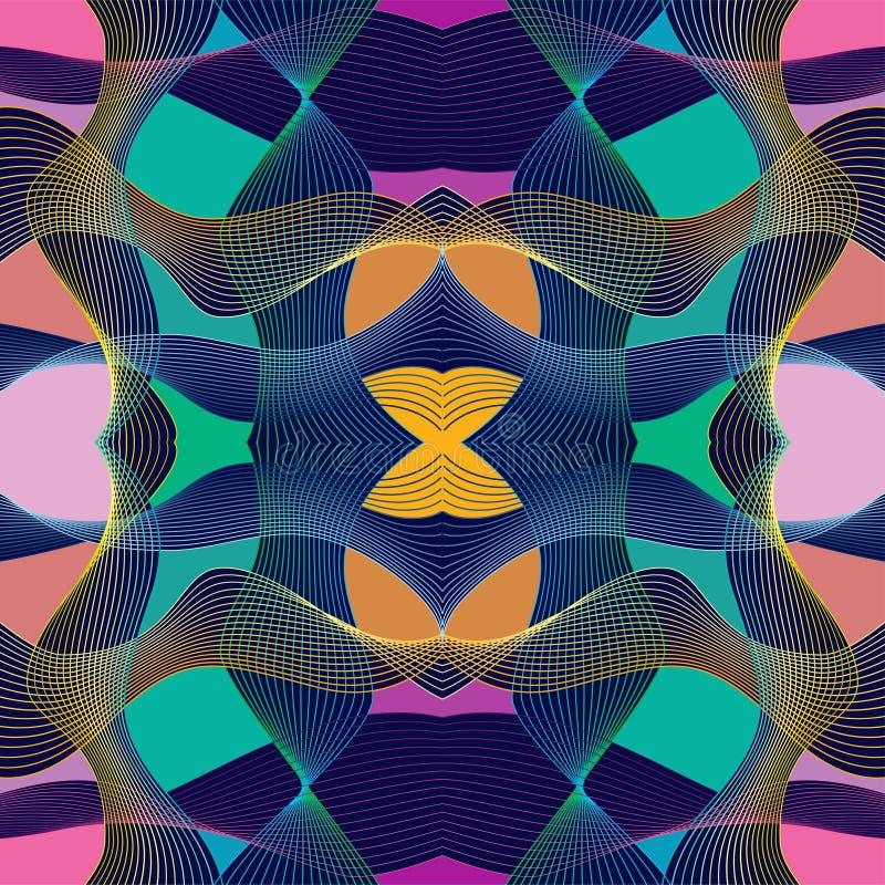Современная абстракция Stle при состав сделанный различных округленных форм в цвете иллюстрация штока