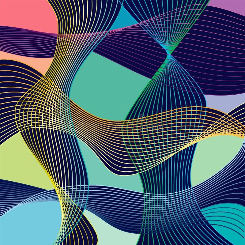 Современная абстракция Stle при состав сделанный различных округленных форм в цвете бесплатная иллюстрация