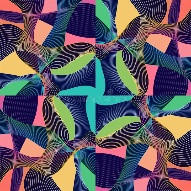 Современная абстракция Stle при состав сделанный различных округленных форм в цвете иллюстрация вектора
