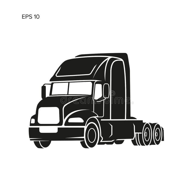 Современная американская иллюстрация вектора тележки Тяжелое изображение перехода бесплатная иллюстрация