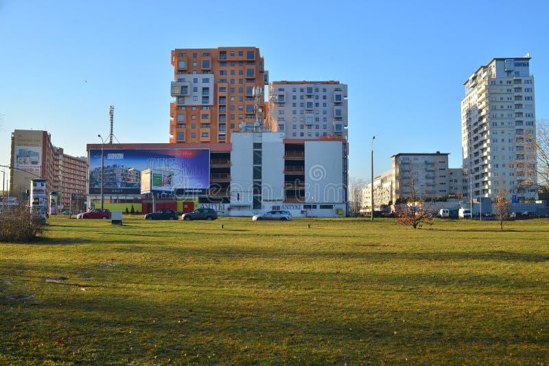 Современная архитектура в Гданьске стоковое изображение rf
