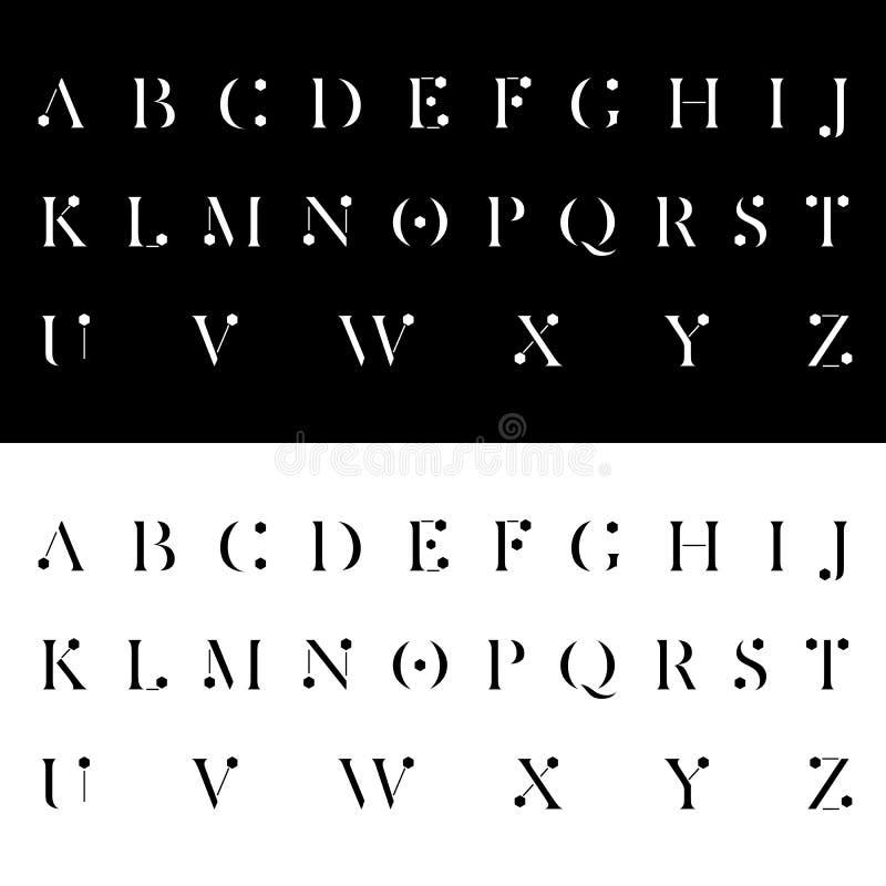 Современная алфавитная иллюстрация вектора шрифтов бесплатная иллюстрация