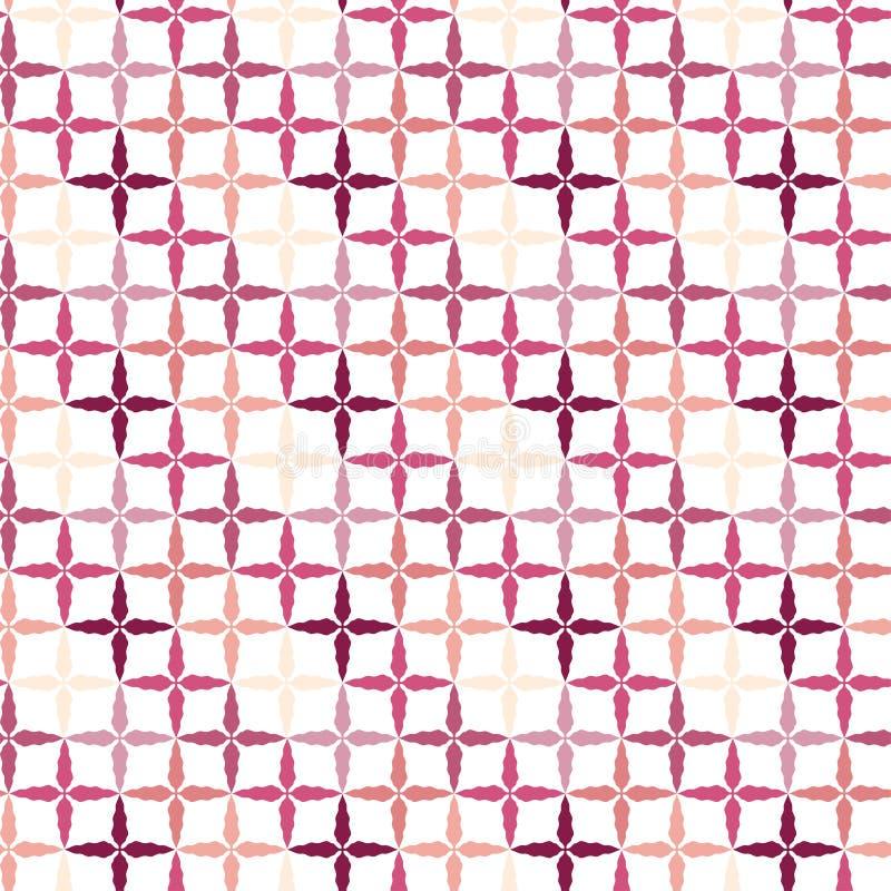 Современная безшовная картина Яркий дизайн предпосылки Орнамент картины геометрический в розовых цветах иллюстрация штока