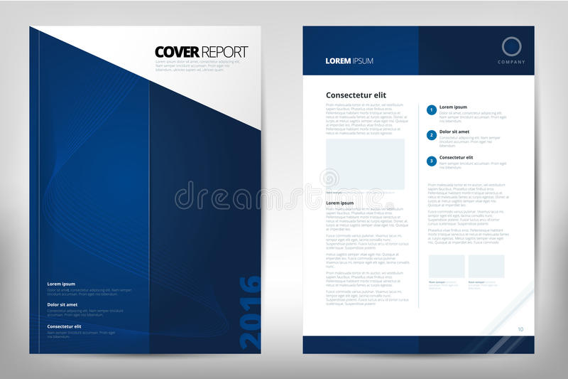 Современная брошюра годового отчета крышки - брошюра дела - каталогизируйте крышку, дизайн рогульки, размер A4, титульный лист и  бесплатная иллюстрация