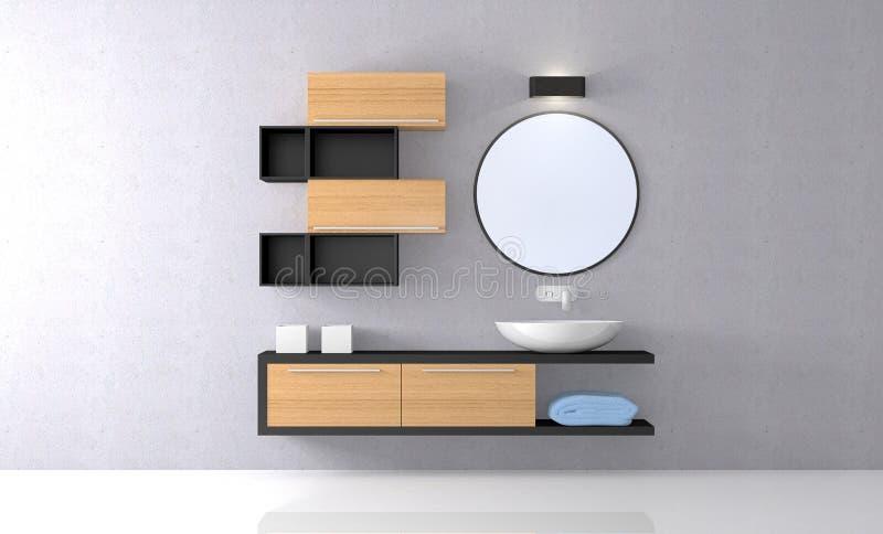 Современная ванная комната иллюстрация вектора