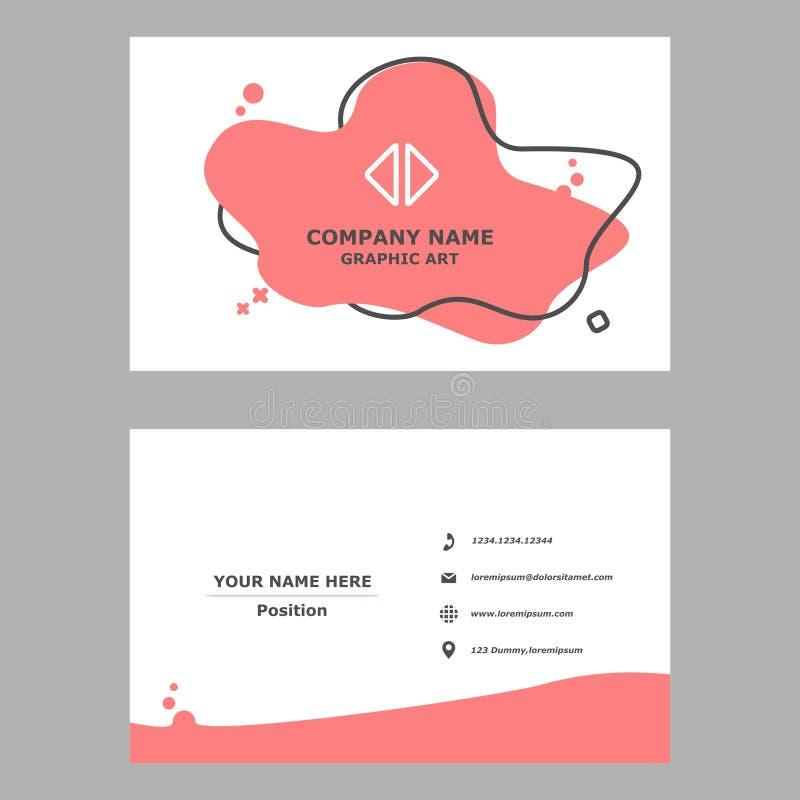 Современная визитная карточка чистый шаблон дизайна для профессионального, личного и компании иллюстрация штока