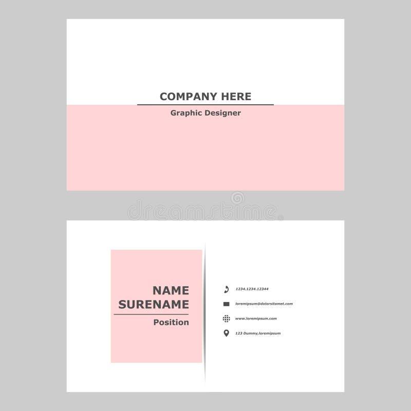 Современная визитная карточка чистый шаблон дизайна для профессионального, личного и компании иллюстрация вектора
