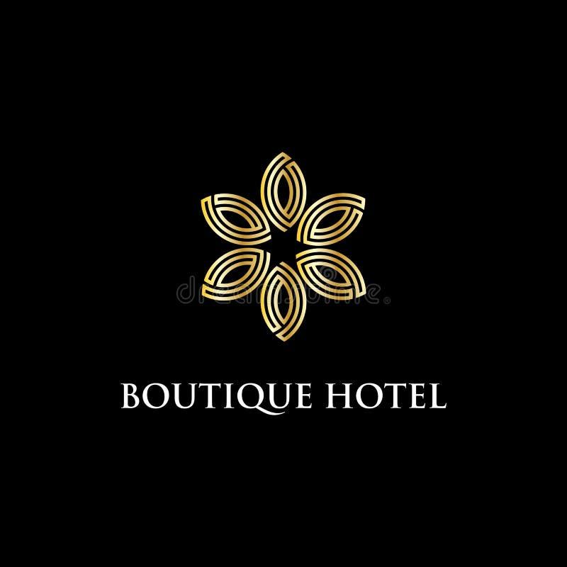 Современная воодушевленность дизайна логотипа бутик-отеля, роскошь и умная иллюстрация вектора иллюстрация вектора
