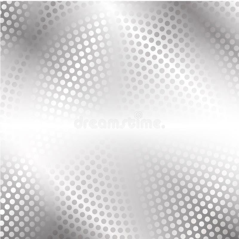 Современная высокотехнологичная предпосылка серых точек, кругов и зарева бесплатная иллюстрация