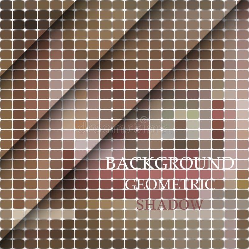 Современная геометрическая абстрактная предпосылка - овал Абстрактная геометрическая предпосылка от серого овала с раскосной тень бесплатная иллюстрация