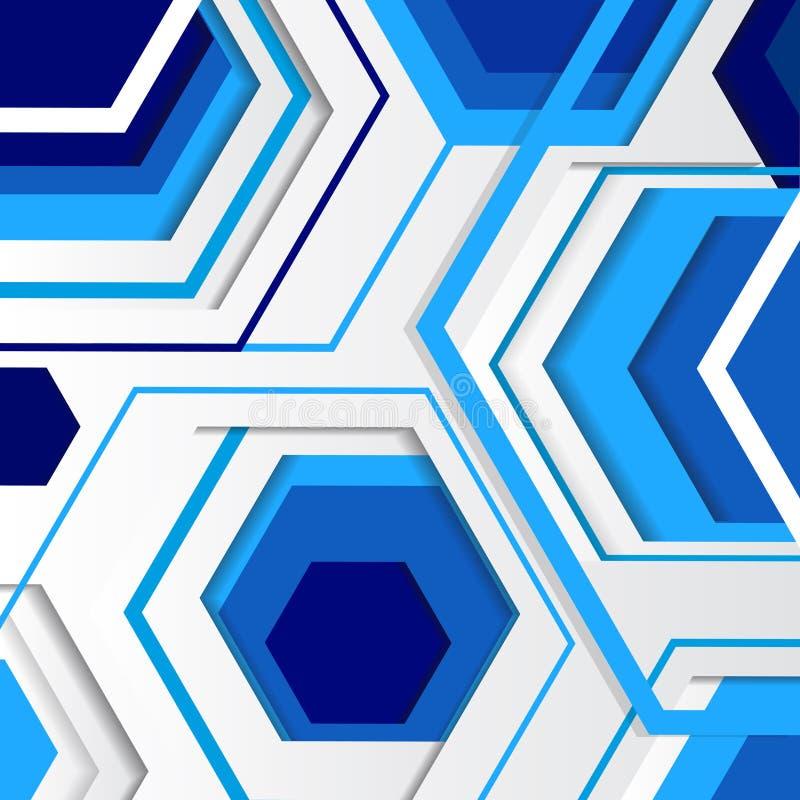 Современная геометрическая абстрактная предпосылка иллюстрация штока