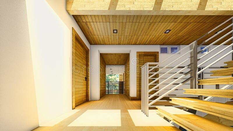 Современная лестница - интерьер бесплатная иллюстрация
