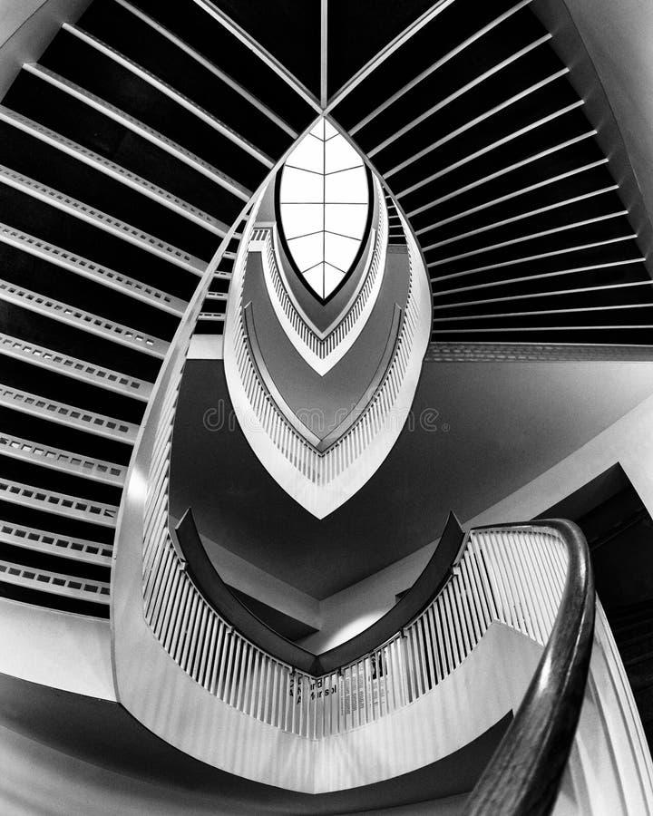 Современная лестница стоковое фото rf