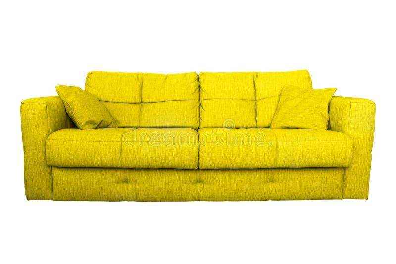 Современная желтая мебель софы или кресла стоковые изображения