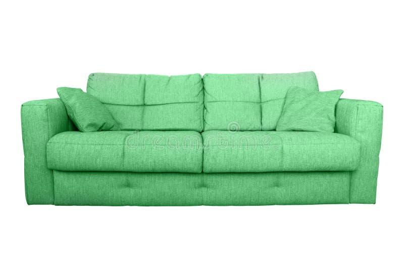 Современная зеленая мебель софы или кресла стоковая фотография