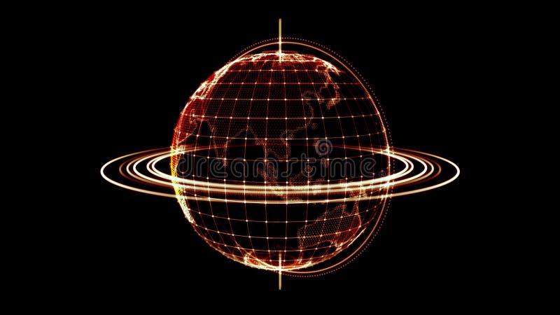 Современная земля цифров иллюстрация вектора