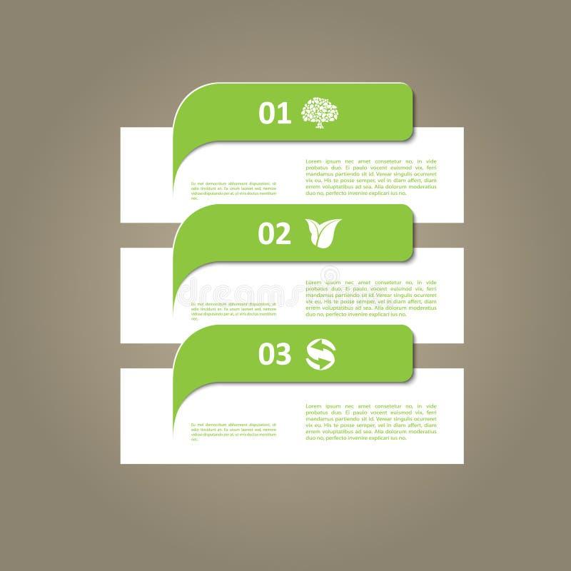 Современная зеленая экологичность infographic иллюстрация штока