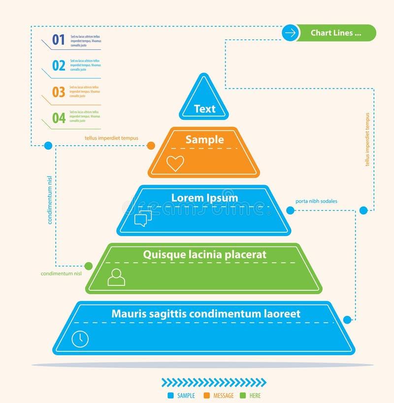 Современная диаграмма пирамиды иллюстрация вектора
