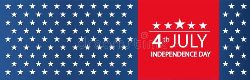 Современная иллюстрация вектора Дня независимости США Торжество четверти от июля в Соединенных Штатах Америки o иллюстрация штока