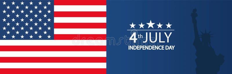 Современная иллюстрация вектора Дня независимости США Торжество четверти от июля в Соединенных Штатах Америки o бесплатная иллюстрация