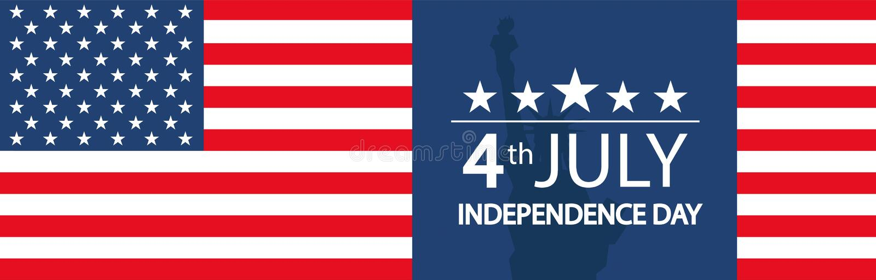 Современная иллюстрация вектора Дня независимости США Торжество четверти от июля в Соединенных Штатах Америки o иллюстрация вектора