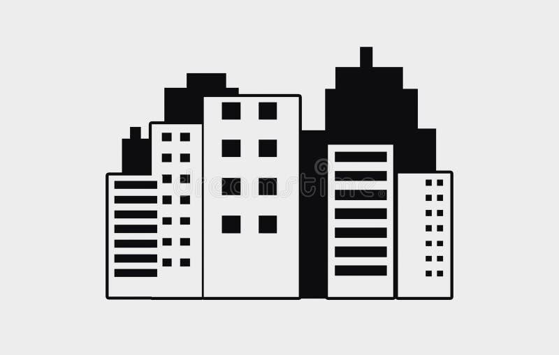 Современная иллюстрация горизонта города - иллюстрация горизонта города современной архитектуры конспекта городская стоковая фотография rf