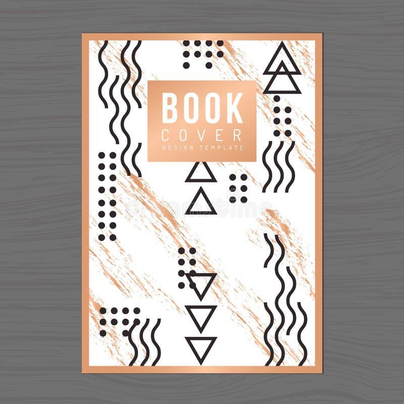 Современная и чистая обложка книги дизайна, плакат, рогулька, направление компании, шаблон плана дизайна годового отчета в размер бесплатная иллюстрация
