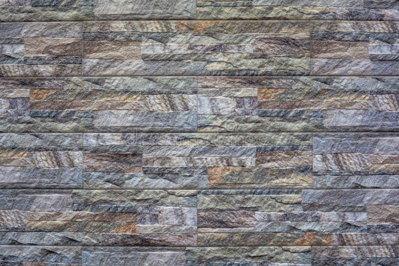 Современная каменная предпосылка кирпичной стены текстура камня утеса мха стоковое изображение