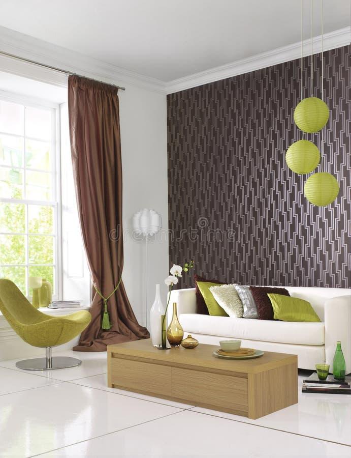 современная комната стильная стоковая фотография