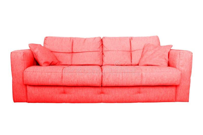 Современная красная мебель софы или кресла стоковая фотография rf