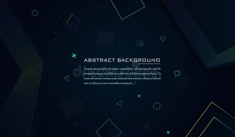 Современная красочная геометрическая предпосылка с динамическим составом форм иллюстрация штока