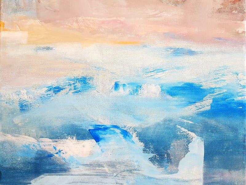 Предпосылка абстрактного искусства крася r Современное искусство стоковое изображение