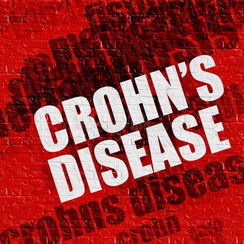 Современная медицинская концепция: Заболевание Crohns на красной кирпичной стене стоковые изображения rf